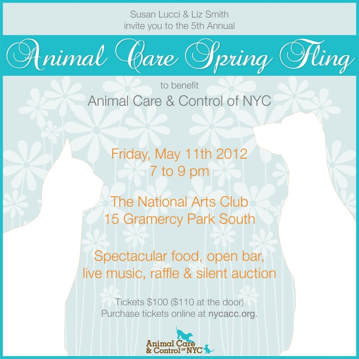 To benefit Animal Care & Control of NYC.