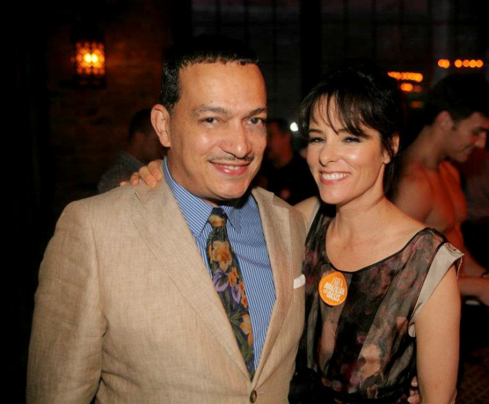 Anthony Rubio and Parker Posey at the Third Annual OASIS benefit for Ali Forney Center