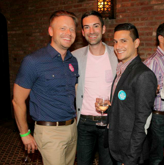 Tim Farrell, Kevin Scully and Carlos Herrera at the Third Annual OASIS benefit for Ali Forney Center