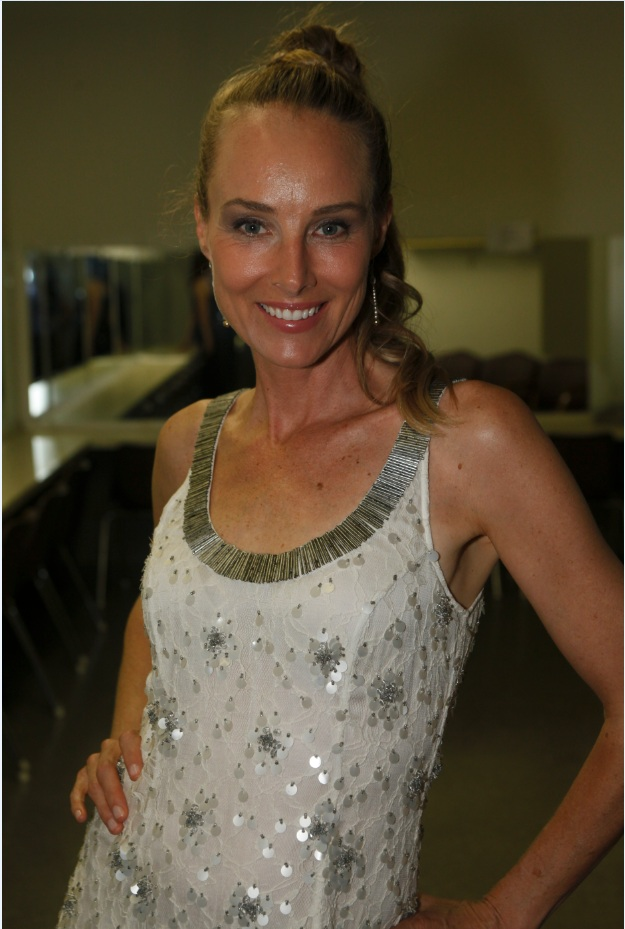 Chynna phillips of wilson phillips backstage in dressing room photo