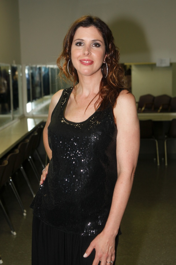 Wendy Wilson of Wilson Phillips Backstaged in Dressing Room (Photo by Yoni Levy)