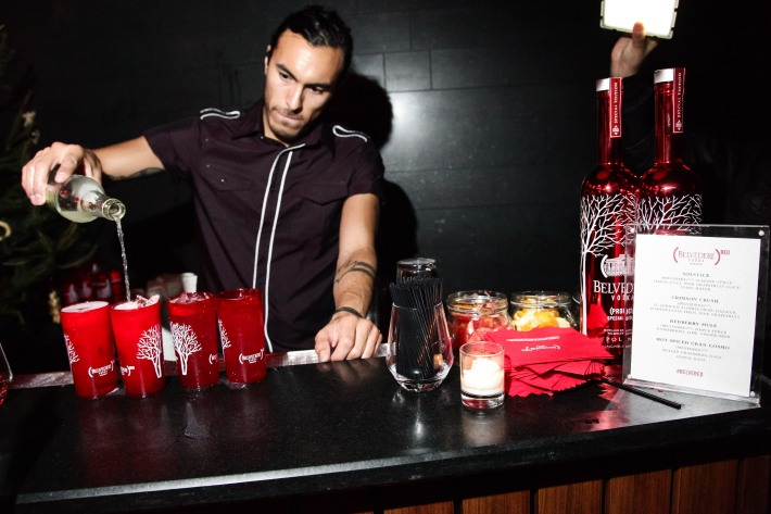 Bartender at (BELVEDERE)RED World AIDS Day event