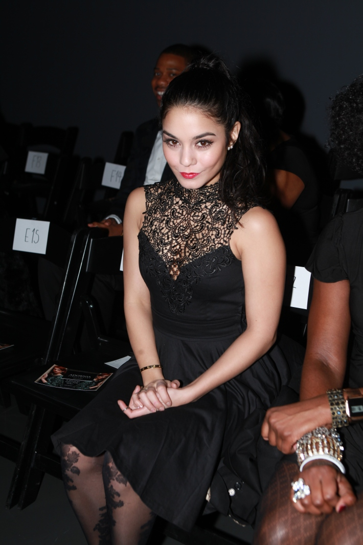 Vanessa Hudgens front row at Giorgi Nazgaidze's Fashion Show