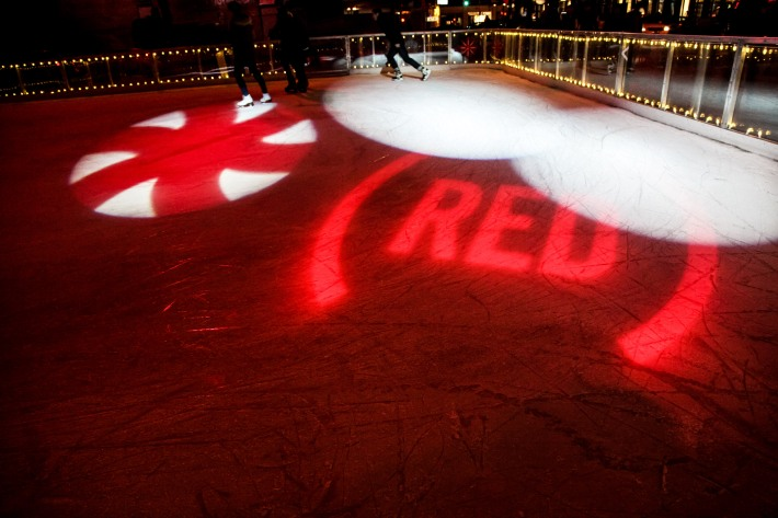 Ice Rink at (BELVEDERE)RED World AIDS Day event