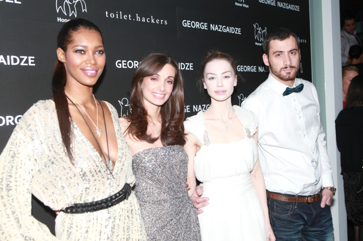 Jessica White, Mariam Kinkladze, Ani Amiridze and George Nazgaidze attend Charity Meets Fashion