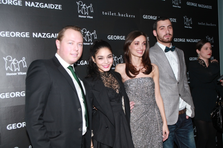 John Kluge, Vanessa Hudgens, Mariam Kinkiadze and George Nazgaidze attend Charity Meets Fashion