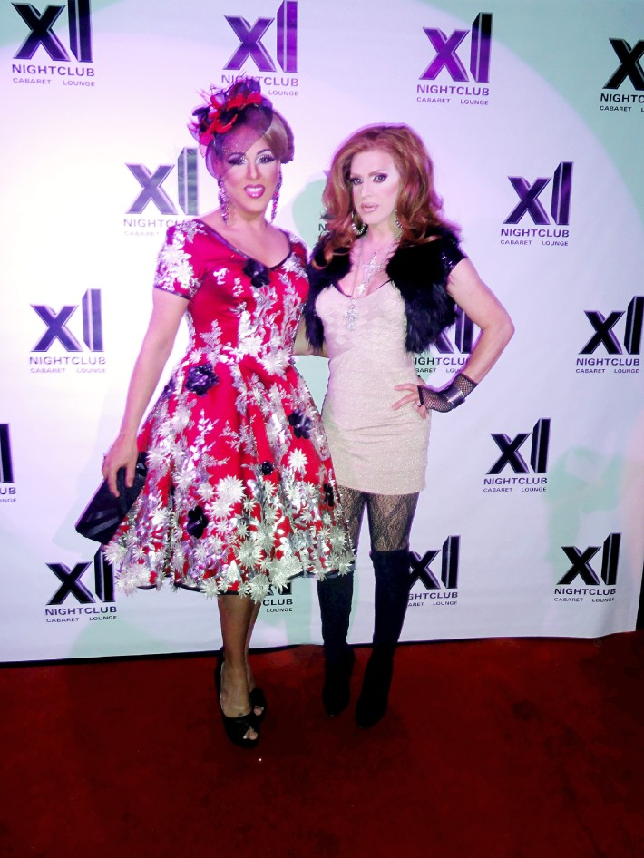 Alexis Mateo and Pandora Boxx at RuPaul's All Stars Drag Race Premiere Party at XL