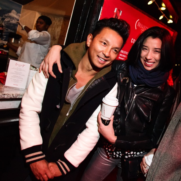 Prabal Gurung and Lily Kwong at (BELVEDERE)RED World AIDS Day event