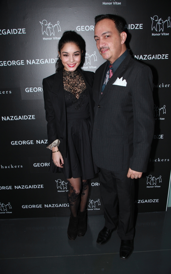 Vanessa Hudgens  and Anthony Rubio attend Charity Meets Fashion