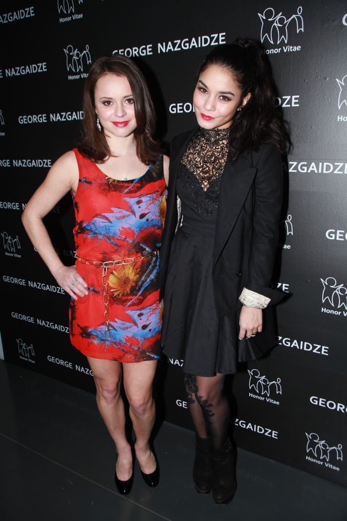 Vanessa Hudgens Sasha Cohen Charity Meets Fashion