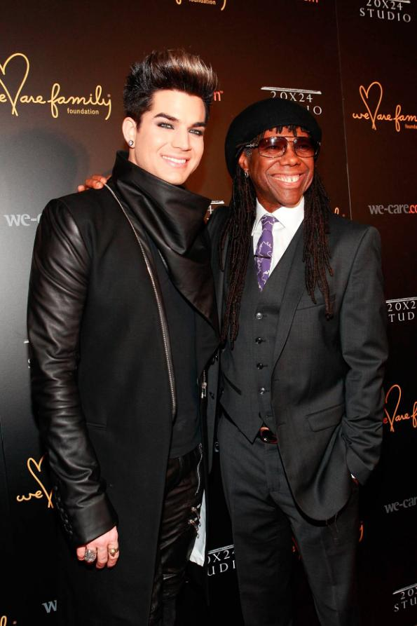 Adam Lambert and Nile Rodgers at We Are Family Foundation 2013 Celebration Gala 2.0