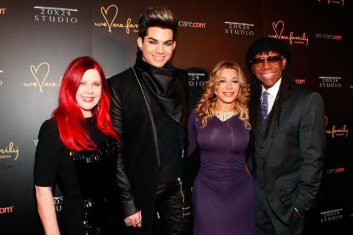Kate Pierson, Adam Lambert, Taylor Dayne and Nile Rodgers at We Are Family Foundation 2013 Celebration Gala 2.0