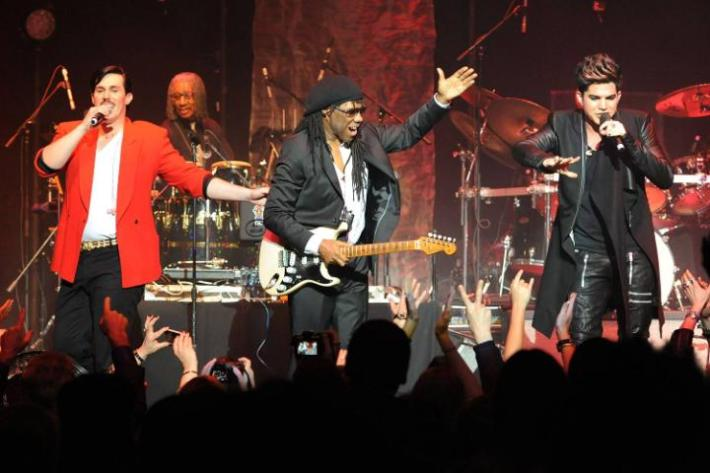 Sam Sparro, Nile Rodgers, Adam Lambert at We Are Family Foundation 2013 Celebration Gala 2.0