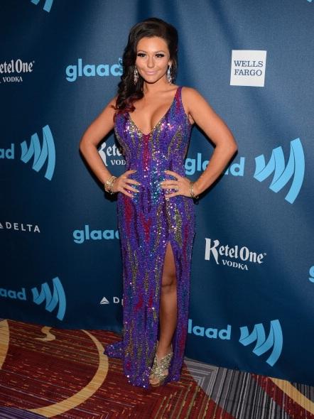 "Jenni ""JWoww"" Farley at The 24th Annual GLAAD Media Awards"