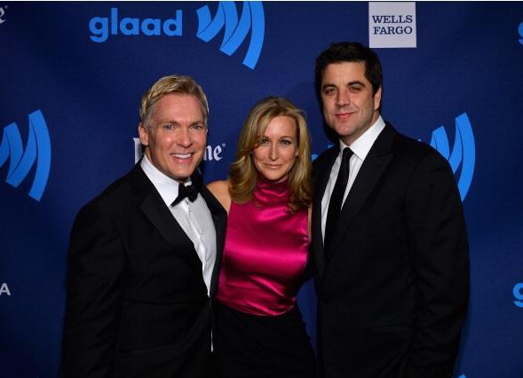 Sam Champion, Josh Elliott, and Lara Spencer at The 24th Annual GLAAD Media Awards