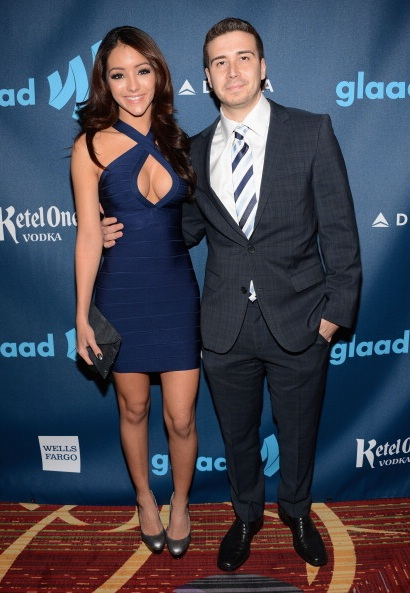 Vinny Guadagnino and Melanie Iglesias at The 24th Annual GLAAD Media Awards