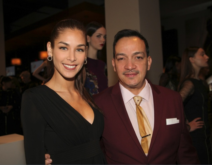 Dayana Mendoza and Anthony Rubio  attends Raul Penaranda's Runway Show Fall 2013 Mercedes-Benz Fashion Week (Photo by Yoni Levy)