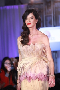 Janice Dickenson at The Reality Of Fashion benefit for Broadway Cares