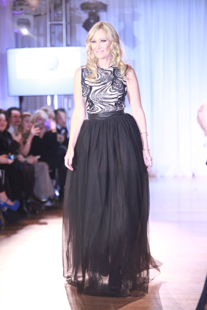 "Leslie Birkland from ""Big Rich Texas"" at The Reality Of Fashion benefit for Broadway Cares (Photo by Yoni Levy)"