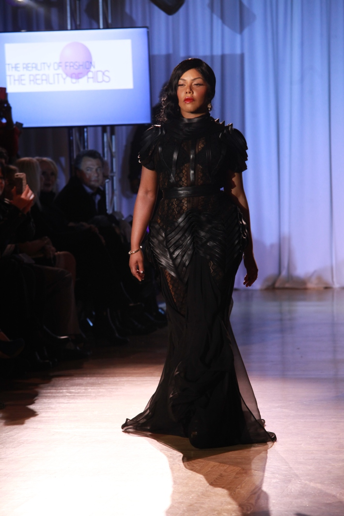 Lil' Kim at The Reality Of Fashion benefit for Broadway Cares (Photo by Yoni Levy)