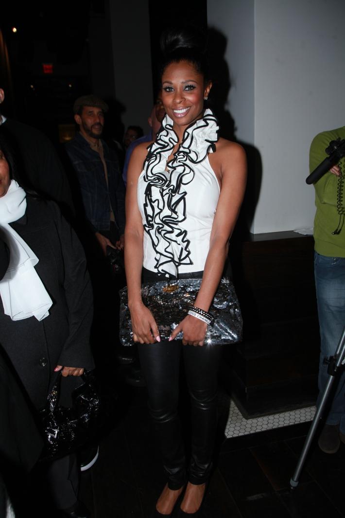 Jennifer Williams from the TV Show Basketball Wives attends Raul Penaranda's Runway Show Fall 2013 Mercedes-Benz Fashion Week (Photo by Yoni Levy)
