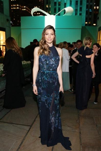 Jessica Biel attends Tiffany & Co. Its Blue Book Bal