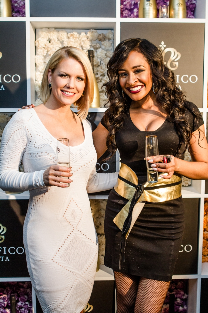Carrie Keagan and Janell Snowden Magnifico Giornata Infused Essence Collection Launch (Photo by Patrick MacLeod)