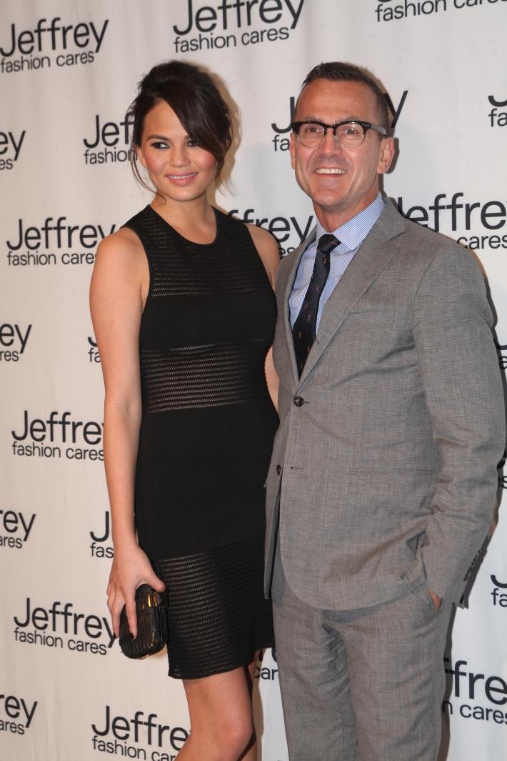 Chrissy Teigen & Steven Kolb at Jeffrey Fashion Cares 10th Anniversary Celebration Photo by Yoni Levy