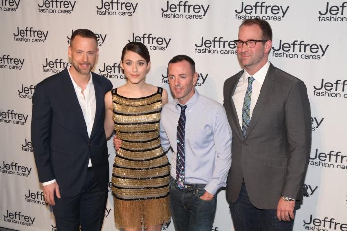 Dan Rothman, Emmy Rossum, Jeffrey Kalinsky & Todd Sears at Jeffrey Fashion Cares 10th Anniversary Celebration Photo by Yoni Levy