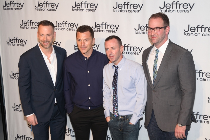 Dan Rothman, Sean Avery Jeffrey Kalinsky and Todd Sears at Jeffrey Fashion Cares 10th Anniversary Celebration  Photo by Yoni Levy