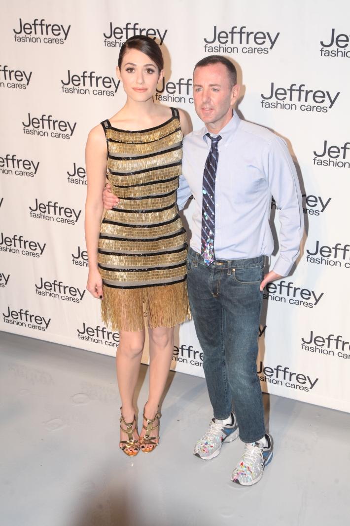 Emmy Rossum and  Jeffrey Kalinsky at Jeffrey Fashion Cares 10th Anniversary Celebration Photo by Yoni Levy