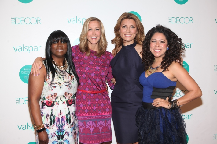 Event co-chairs Yetta Banks, Evette Rios, Genevieve Gorder and Lara Spencer at  Housing Works 9th Annual Design On A Dime Benefit