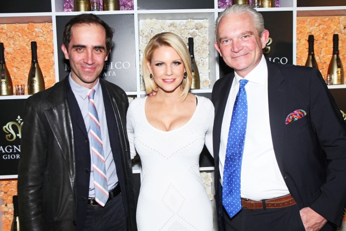 Carrie Keagan and Gautier Valdronne at Magnifico Giornata Infused Essence Collection Launch Party (Photo by Yoni Levy)