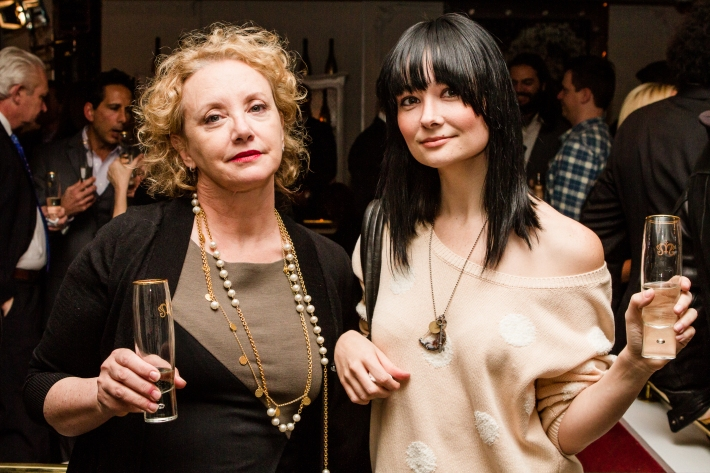 J. Smith-Cameron, Kristin ruhlin at Magnifico Giornata Infused Essence Collection Launch (Photo by Patrick MacLeod)