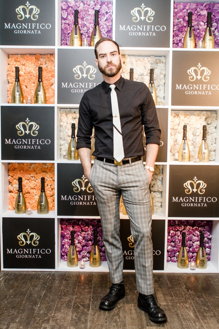 DJ Jeffrey Tonnesen at Magnifico Giornata Infused Essence Collection Launch Party (Photo by Patrick MacLeod)
