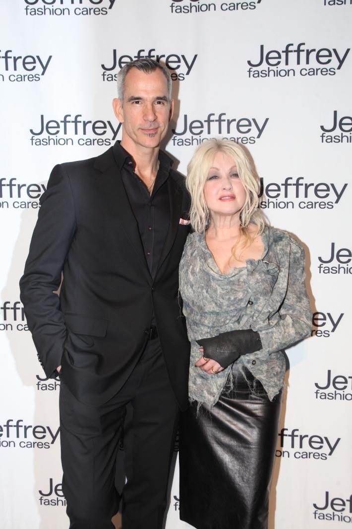 Jerry Mitchell and Cyndi Lauper at Jeffrey Fashion Cares 10th Anniversary Celebration Photo by Yoni Levy