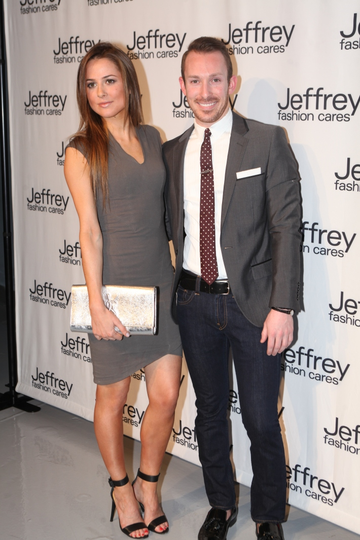 Katie Ahrens and Guest at Jeffrey Fashion Cares 10th Anniversary Celebration Photo by Yoni Levy