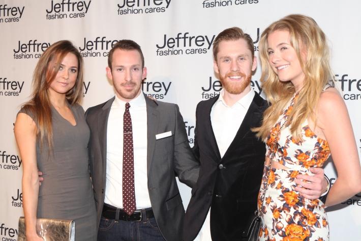 Katie Ahrens, Matthew Feldman, Alex Nordstrom at Jeffrey Fashion Cares 10th Anniversary Celebration  Photo by Yoni Levy