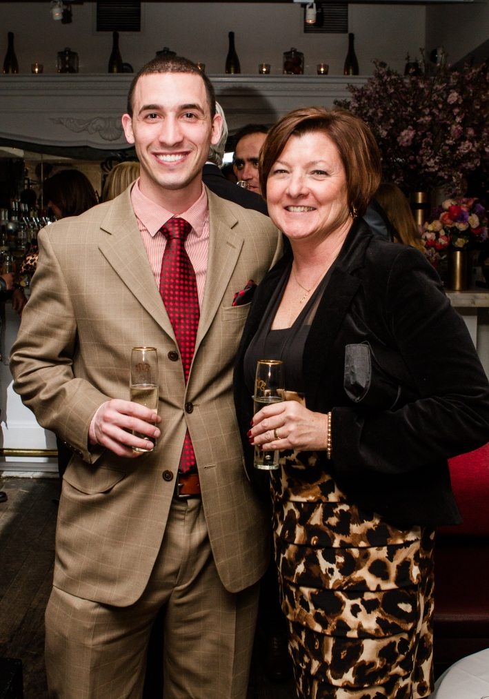 Marco Onorato, Carol Tumolo at Magnifico Giornata Infused Essence Collection Launch Party (Photo by Patrick MacLeod)