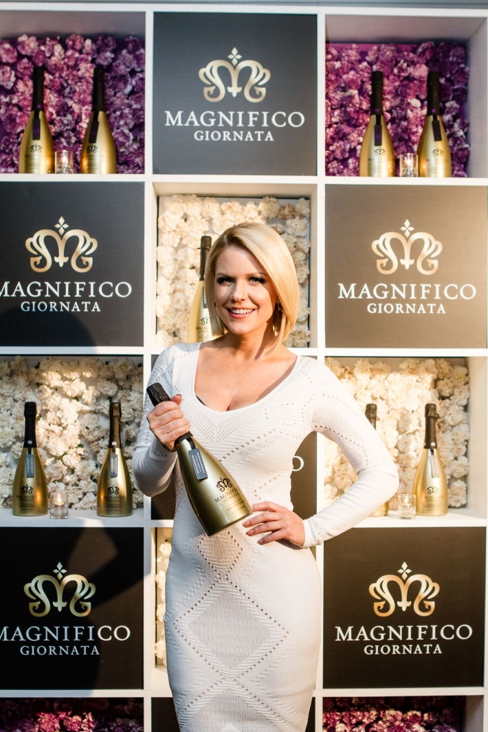 Carrie Keagan at Magnifico Giornata Infused Essence Collection Launch (Photo by Patrick MacLeod)