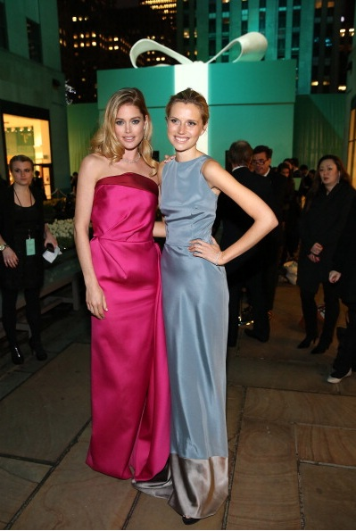 Models Cato van Ee and Doutzen Kroes attend Tiffany & Co. Its Blue Book Ball