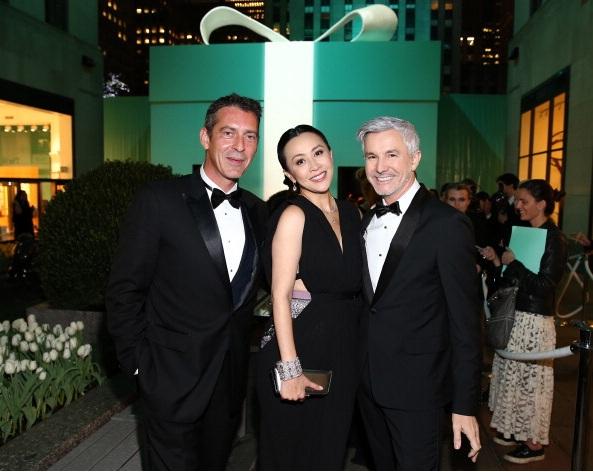 Stephane Lafay, Carina Lau and Baz Luhrmann attend Tiffany & Co. Its Blue Book Ball At Rockefeller Center