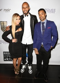 Adrienne Bailon, Swizz Beatz and Bilal attend Bronx Charter School For The Arts 2013 Art Auction Photo by Jerritt Clark
