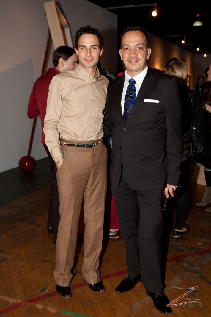 Zac Posen and Anthony Rubio attend Steven Sebring's REVOLUTION Opening Reception (Photo by Yoni Levy)