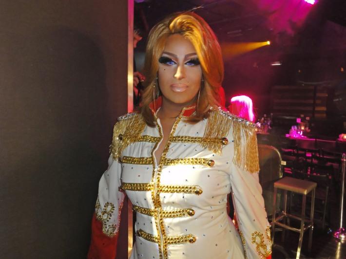 Roxxxy Andrews attends RuPaul's Drag Race Season 5 Finale Party in New York