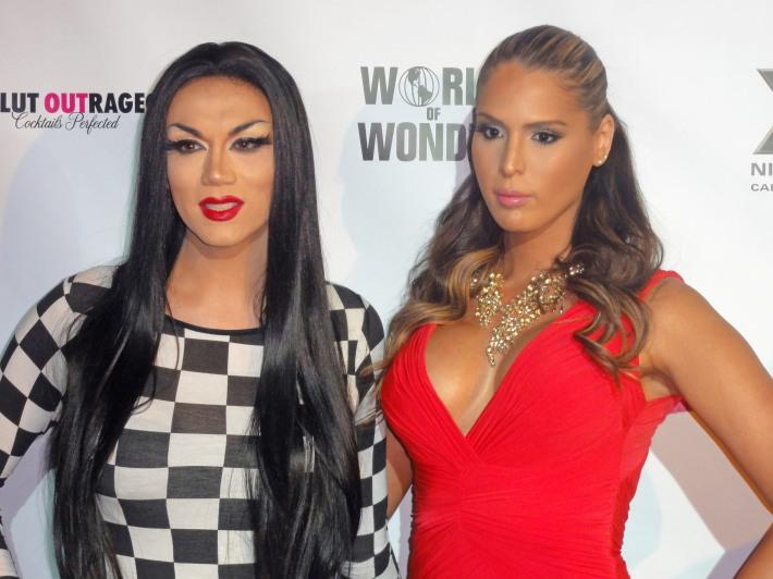 Carmen Carrera and Manila Luzon attend RuPaul's Drag Race Season 5 Finale Party in New York