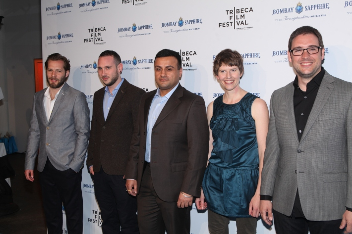 Shekar Bassi, Cadi Catlow, Paul Frankel, Alexis Barroso Gasco, and James Griffiths  at The Bombay Sapphire Imagination Series: Film World Premiere (Photo by Yoni Levy)