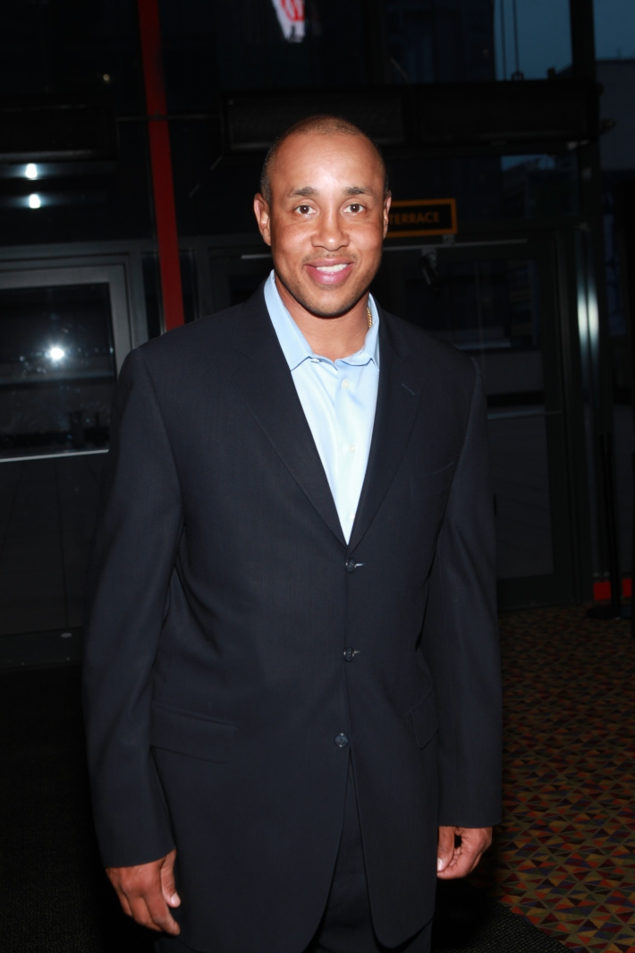 John Starks at Once Upon A Time In Brooklyn Film Screening (Photo by Yoni Levy)