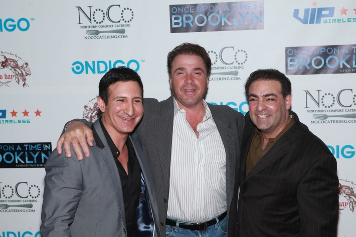William DeMeo, Paul Borghese and Michael Rispoli at Once Upon A Time In Brooklyn Film Screening (Photo by Yoni Levy)