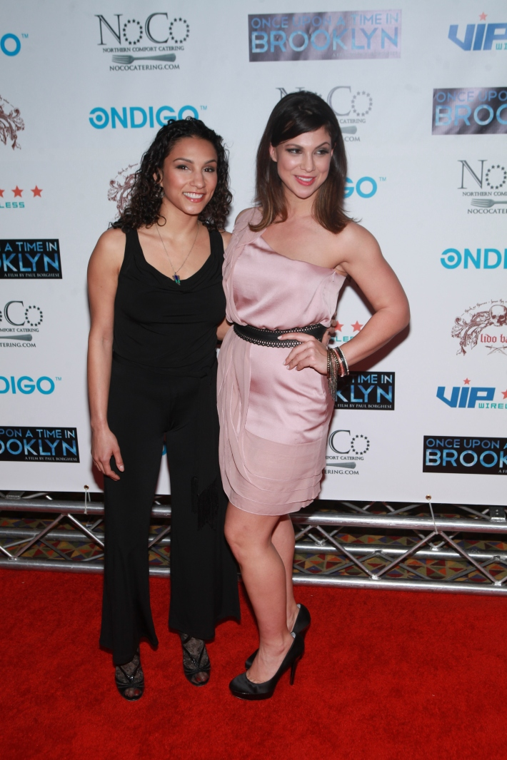 Elia Monte-Brown and Samantha Ivers at Once Upon A Time In Brooklyn Film Screening (Photo by Yoni Levy)